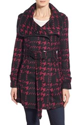 Women's Steve Madden Belted Houndstooth Coat