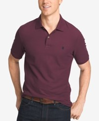Izod Men's Pique Performance Heathered Polo Fig