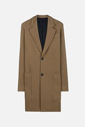 Ami Alexandre Mattiussi Notched Lapel Two Buttons Coat Nude And Neutrals
