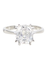 Savvy Cie Asscher Cut Simulated Diamond Ring White