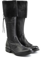 Fiorentini And Baker Fold Over Leather Boots Black