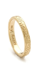 Monica Rich Kosann My Heart Engraved Ring Gold