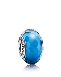 Pandora Design Pandora Charm Murano Glass Aqua Fascinating Moments Collection Silver Aqua