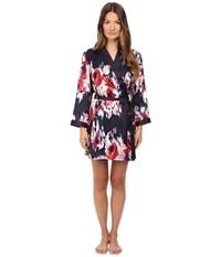 Kate Spade Charmeuse Robe Blurry Floral Women's Robe Pink