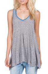 Women's Volcom 'Down Tha Block' Racerback Tank Heather Grey