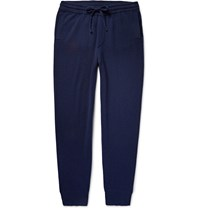 Burberry Slim Fit Tapered Cashmere Trousers Navy