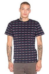 Native Youth Jacquard Heritage Tee Navy