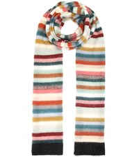 Chloe Mohair Wool And Cashmere Blend Scarf Multicoloured