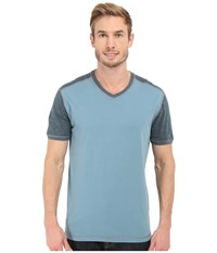 Agave Denim Rubicon Baseball V Neck Short Sleeve Citadel Men's Short Sleeve Pullover Gray