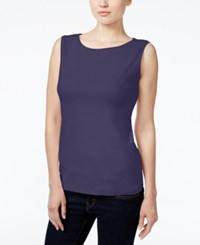 Karen Scott Petite Boat Neck Tank Top Only At Macy's Cassis