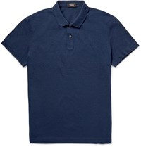 Theory Sandhurst Slim Fit Cotton Piqua Polo Shirt Navy