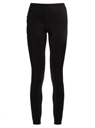 Fendi Fleece Lined Base Layer Ski Leggings Black