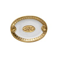 Villari Impero Soap Dish White And Antique Gold