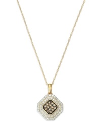 Wrapped In Love White And Brown Diamond Pendant Necklace In 14K Gold 1 2 Ct. T.W.