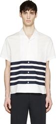 Acne Studios Ody Srtipe Short Sleeve Shirt