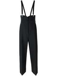 Tibi Suspender Cropped Trousers Black