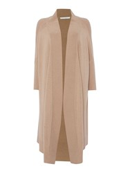 Hugo Boss Farela Long Chunky Knitted Cardigan Beige