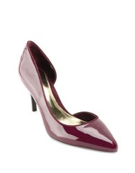 Lauren Ralph Lauren Rube Patent Leather Pumps Burgundy
