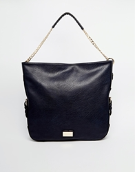 Dune Hobo Bag With Chain Strap Navy