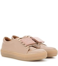 Acne Studios Adriana Patent Leather Sneakers Beige