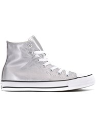 Converse Metallic Grey Hi Tops