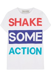 Etre Cecile Shake Some Action Printed Cotton Jersey T Shirt White