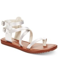Seven Dials Sync Flat Gladiator Sandals Women's Shoes Silver