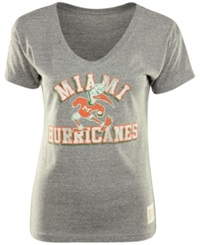 Retro Brand Women's Miami Hurricanes Graphic T Shirt Gray