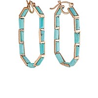 Nak Armstrong Women's Mosaic Oval Hoop Earrings No Color