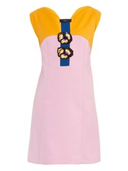Giles Pansy Embellished Tri Colour Dress