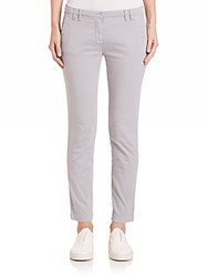 Eleventy Stretch Cotton Ankle Pants Grey