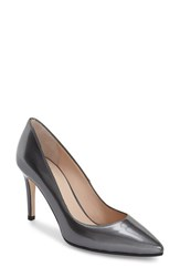 Aquatalia By Marvin K Women's 'Harlee' Weatherproof Pointy Toe Pump Anthracite Mirror Calf
