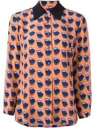 Odeeh Mouth Print Shirt Yellow And Orange