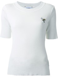 Muveil Logo Detail Fitted T Shirt White