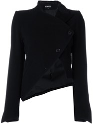Ann Demeulemeester Asymmetric Cropped Jacket Black