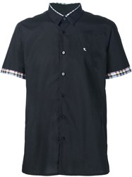 Raf Simons Checked Detail Shortsleeved Shirt Black