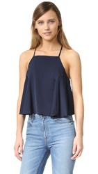Milly Cropped T Back Tank Navy