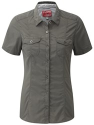 Craghoppers Nosilife Darla Short Sleeved Shirt Brown