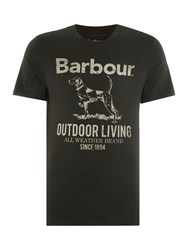 Barbour Outdoor Dog Crew Neck Tee Forest