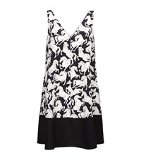 Stella Mccartney Amelie Horse Print Silk Dress Female
