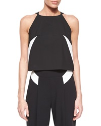 Milly Sleeveless Darted Crop Shell Top