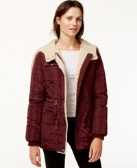 Levi's Hooded Sherpa Lined Puffer Coat Port Royal