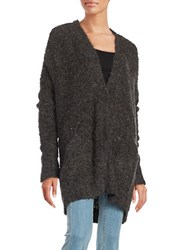 Free People Chunky Knit Oversized Cardigan Black