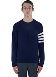 Thom Browne 4 Bar Fully Fashioned Cashmere Sweater Navy