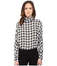 Mcq By Alexander Mcqueen Turtleneck Top Black White Women's Clothing