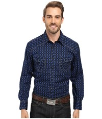 Rock And Roll Cowboy Long Sleeve Snap B2s8423 Blue Men's Clothing