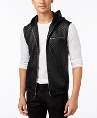 Inc International Concepts Men's Diamond Quilted Hooded Vest Only At Macy's Deep Black