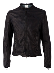 Drome Distressed Biker Jacket Black