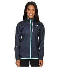 New Balance Lite Packable Jacket Galaxy Aquarius Women's Coat Blue