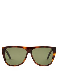 Saint Laurent Flat Top Acetate Sunglasses